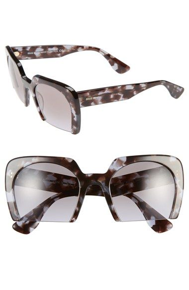 cce2cde786 Miu+Miu+53mm+Sunglasses+available+at+ Nordstrom