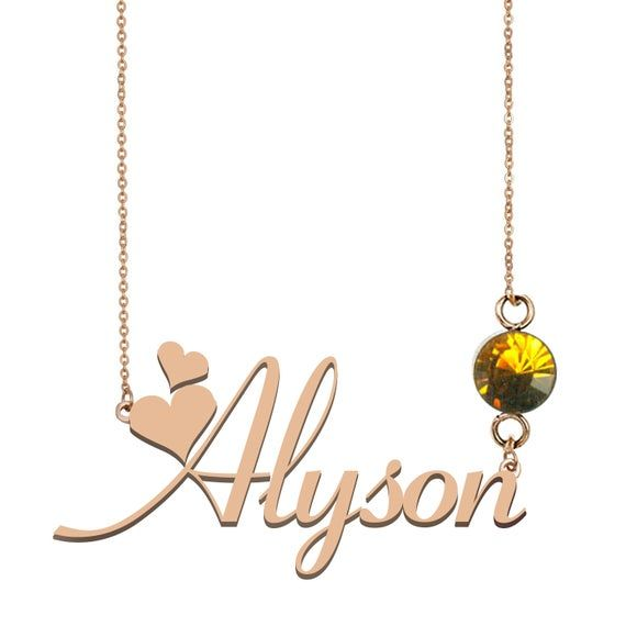 Name Necklace Personalized Silver, 3 Name Necklace Personalized, Alyson Name Necklace Best Christmas