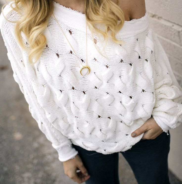 cable knit off the shoulder sweater