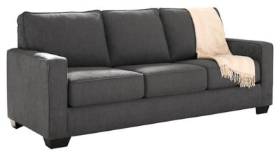 Zeb Queen Sofa Sleeper By Ashley Home Gray Polyester Nylon