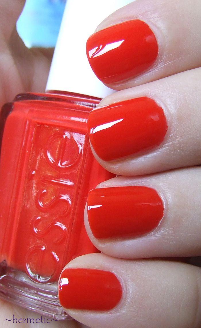 Hermetic S Polish Blog Essie Geranium Essie Nail Nails How To Do Nails