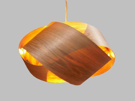 Granny Knot Wood Veneer Pendant Lamp Ernut