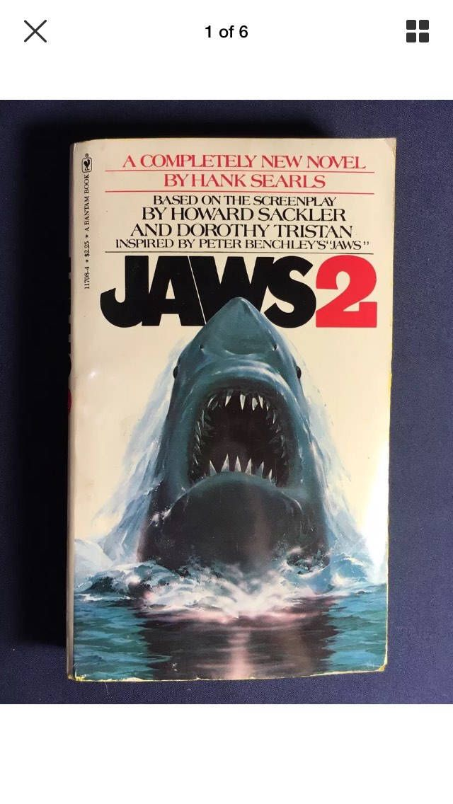 Jaws 2 1978 Novel Book By Hank Searls Horror Thriller