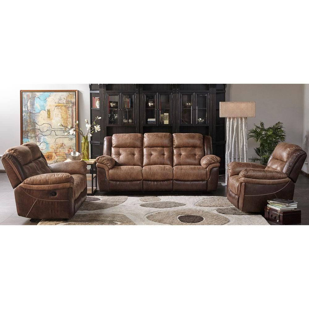 Sensational Cambridge Hawk Brown Double Reclining Loveseat 2 Tone Brown Inzonedesignstudio Interior Chair Design Inzonedesignstudiocom