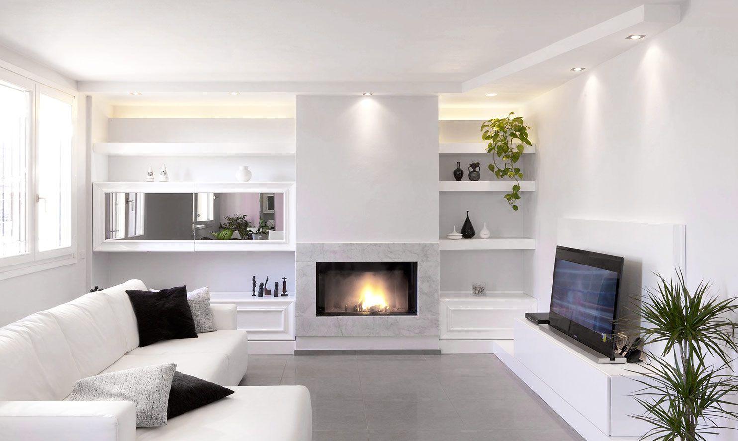 Mensole In Cartongesso Ad Angolo bg image (con immagini) | pareti soggiorno, arredamento sala