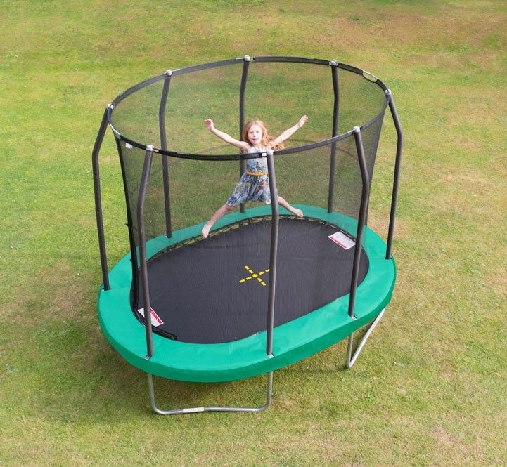 7ft X 10ft Oval Premium Trampoline With Enclosure Jumpking