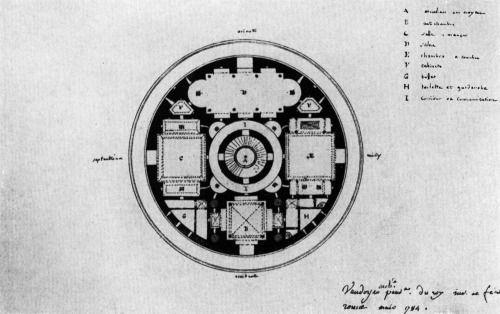 Laurent Vaudoyer, Design for a Spherical House, 1784