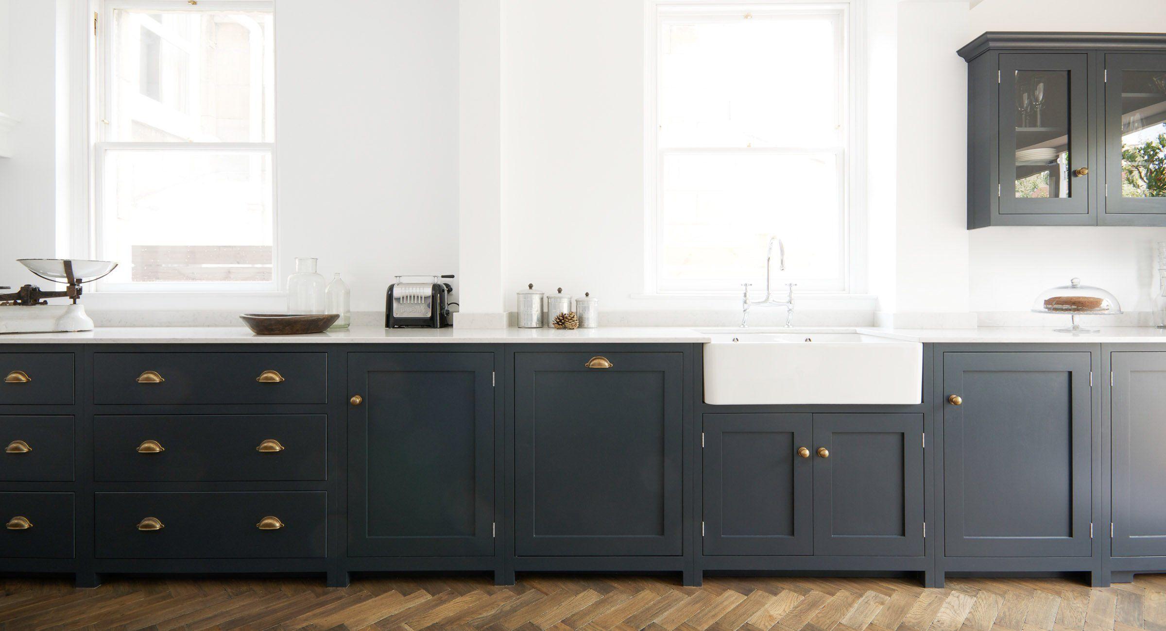 Bath Shaker Kitchen   deVOL Kitchens Bella Brass Cup Handles   Down ...