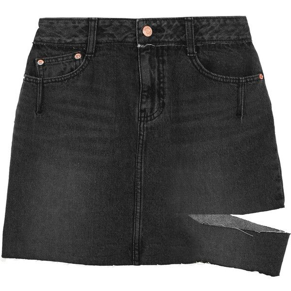 Latest Collections Cheap Online Distressed Denim Mini Skirt - Mid denim Sjyp Looking For Buy Cheap Purchase Fake Sale Online Buy Cheap New Styles 7USNis7