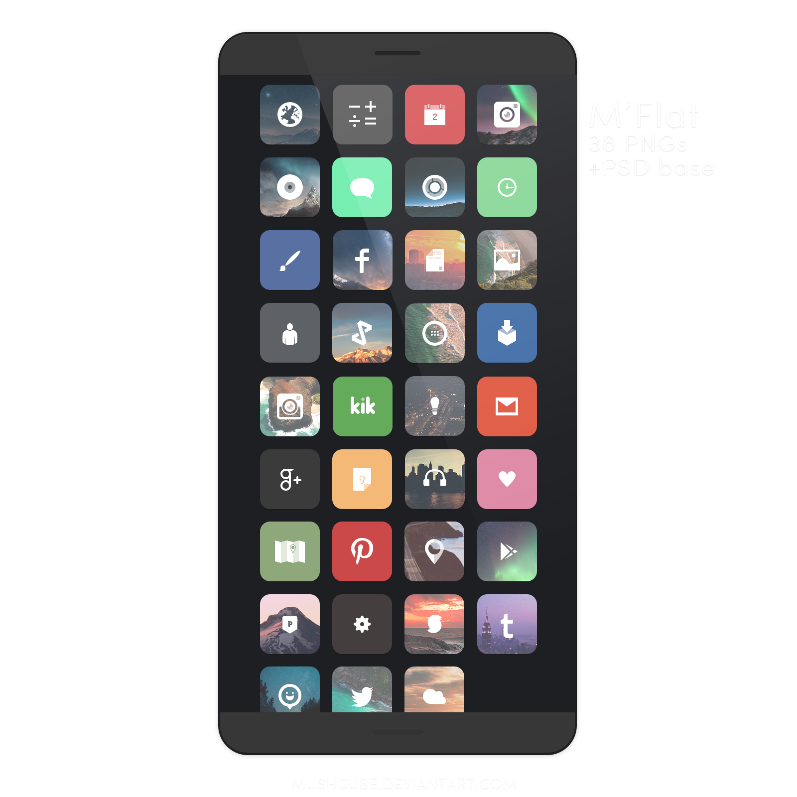 My newest #icon pack M'Flat, go download it from my deviantArt