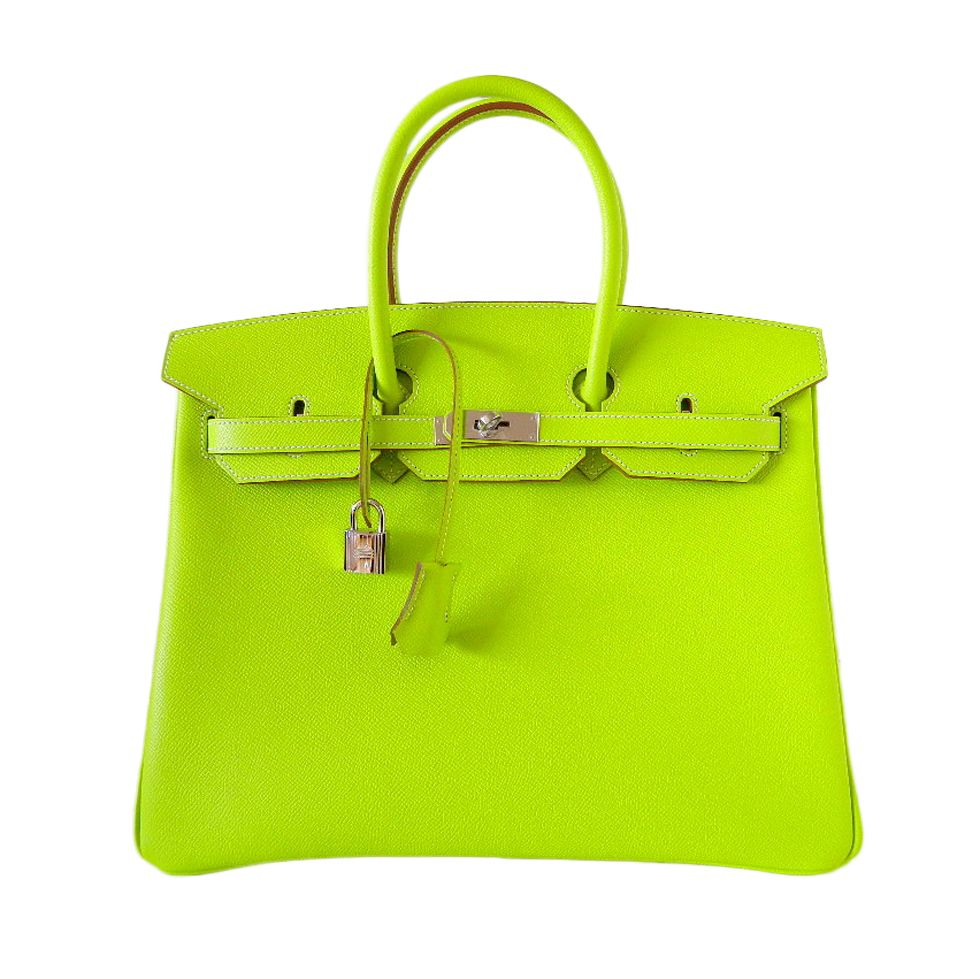 7f23b3d7533d HERMES BIRKIN bag 35 Candy Series Limited Edition KIWI ( 29