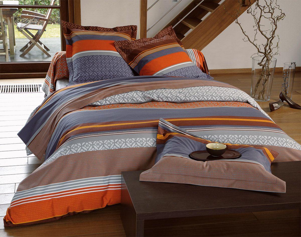 linge de lit flanelle Linge de lit flanelle rayures géométriques   BECQUET CRÉATION  linge de lit flanelle