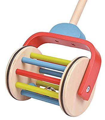 Lelin Wooden Childrens Kids Push Along Rainbow Walking ...