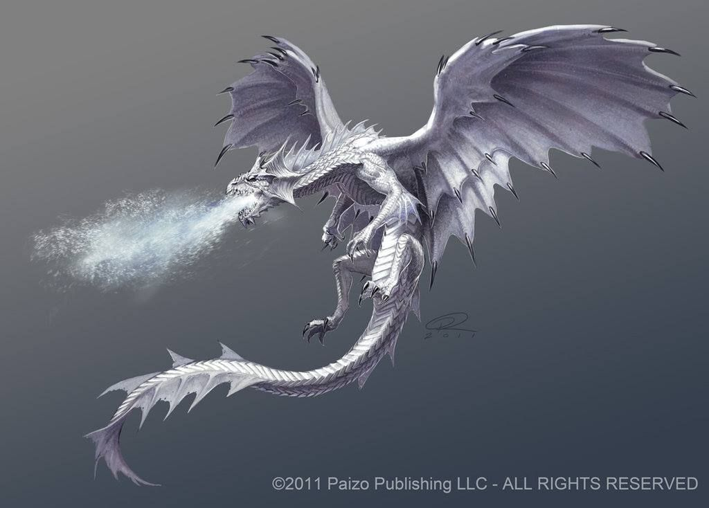 a white frost dragon i dont like the wings but i like