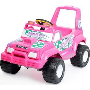 Mini Carro Eletrico Peg Perego Jeep Nevada Pick Up El 6v Pink