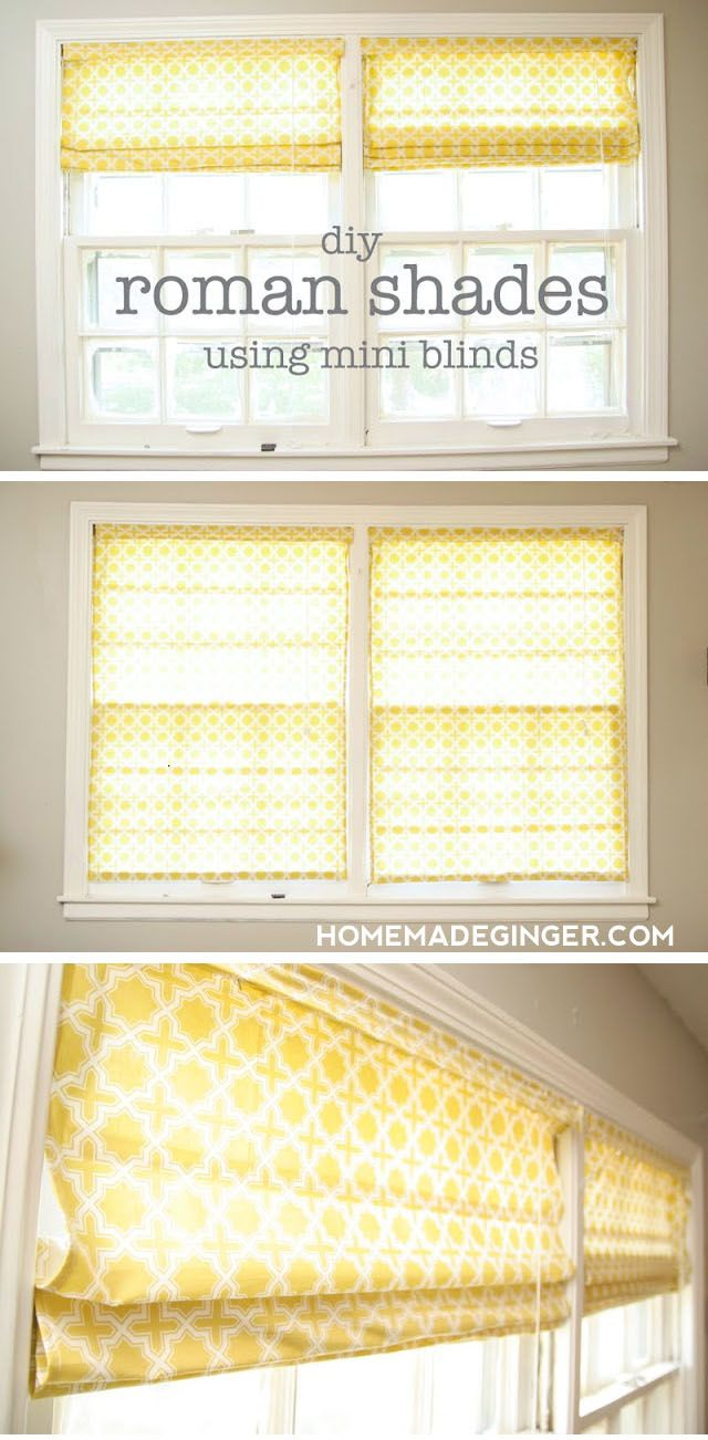 Learn How To Make Roman Shades Using Mini Blinds