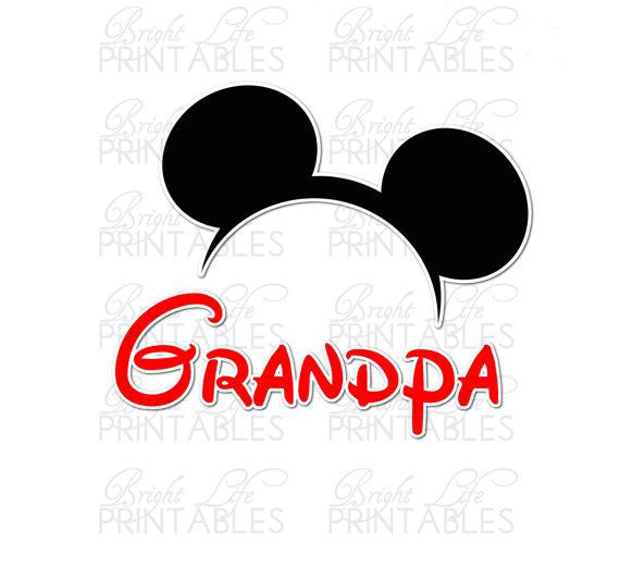 Disney+Iron+On+Transfer+Grandpa+Of+by+BrightLifePrintables+on+Etsy,+$4.00