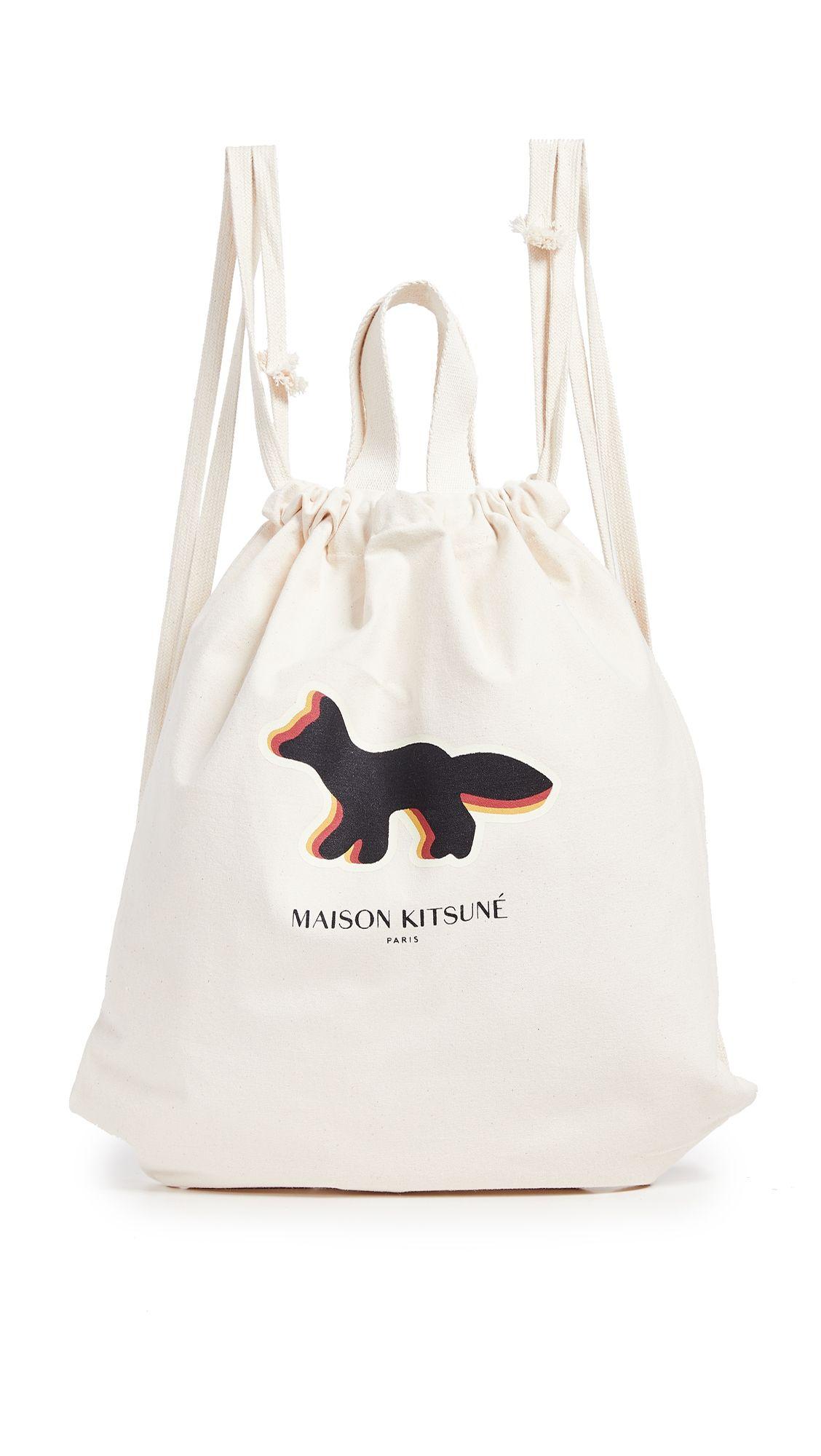 a8198dfcbf MAISON KITSUNÉ QUADRI FOX TOTE BACKPACK.  maisonkitsuné  bags  canvas   backpacks