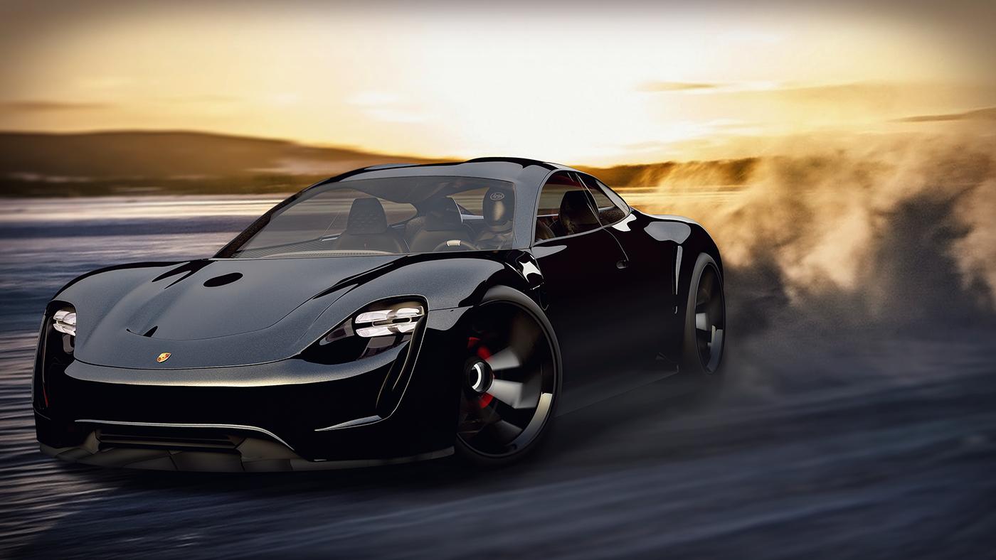 Porsche Mission E Concept Design And Studies On Behance Porsche Cars Luxury Luxurylifestyle Porsche Electric Car Car Photos Porsche