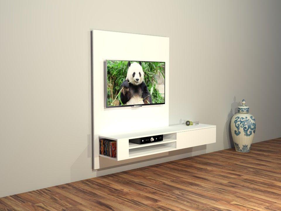 Bouwtekening Hangende Tv Kast Jordi Woonkamer Interieur In