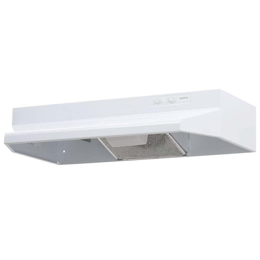 Broan Nutone 40000 Series 30 In Under Cabinet Range Hood With Light In White 403001 The Home Depot Broan Under Cabinet Range Hoods Range Hood