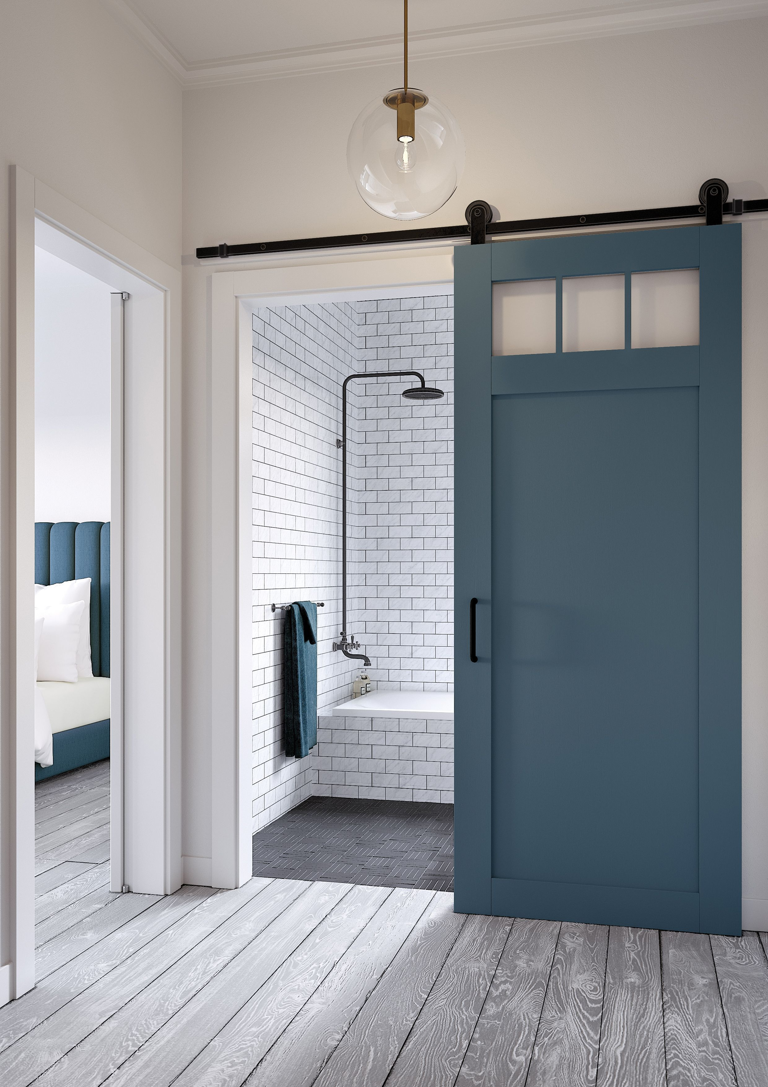 Masonite Jeff Lewis Barn Door | Interior Barn Doors | Pinterest ...