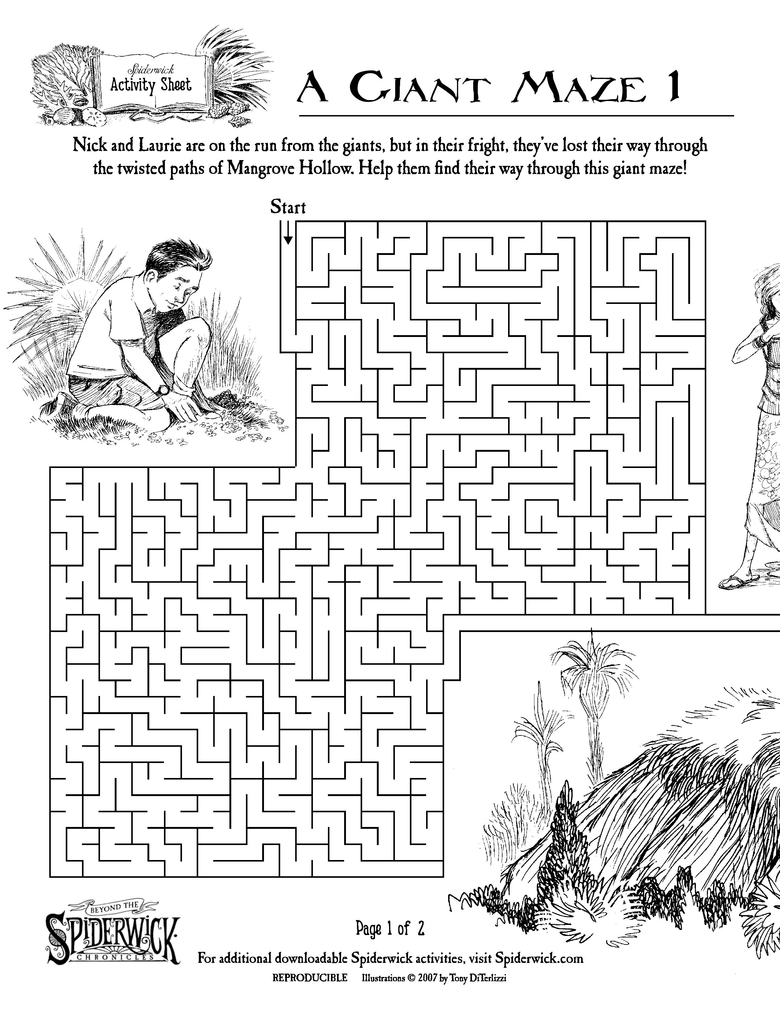 spiderwick a giant maze