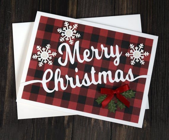 Christmas Card Kit | DIY Christmas Cards, Make Your Own Cards, Greeting Card Kit, Merry Christmas Cards - 4 card kit with envelopes -No. 909