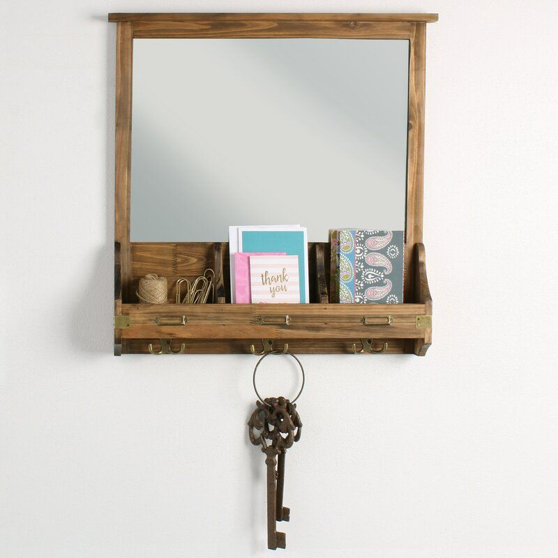 Wall Key Holder With Mirror