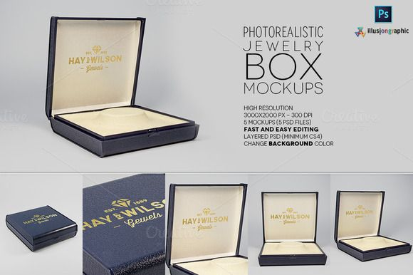 Download Logo On Jewelry Box Mockups V 1 Box Mockup Mockup Colorful Backgrounds