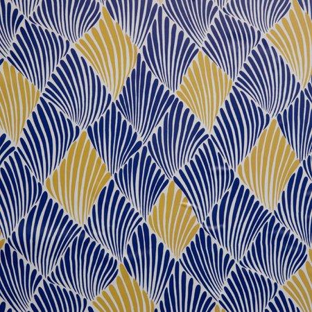Blue And Yellow Art Deco Fan Peel And Stick Wallpaper By Drew Barrymore Flower Home Walmart Com Yellow Art Peel And Stick Wallpaper Home Wallpaper