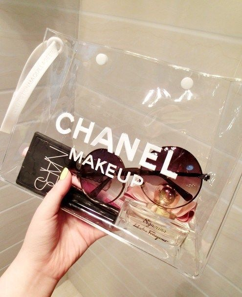 9794f6ee6264 Chanel Clear Makeup Bag/Pouch - Brand New Gorgeous! | Bags ...
