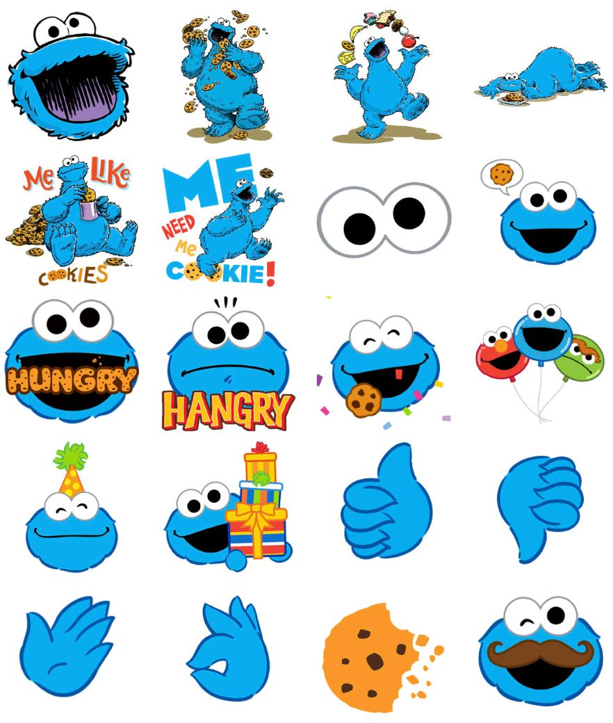 Cookie Monster Stickers For Iphone Cookie Monster Wallpaper Monster Stickers Baby Cookie Monster