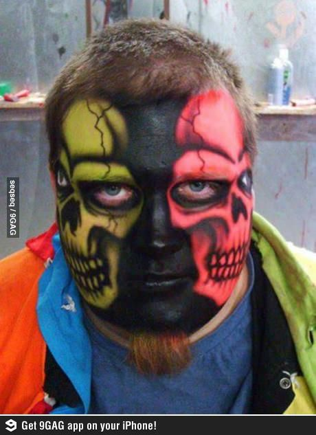 The real two faces! Scary Pinterest Face, Creepy makeup and - terrifying halloween costume ideas