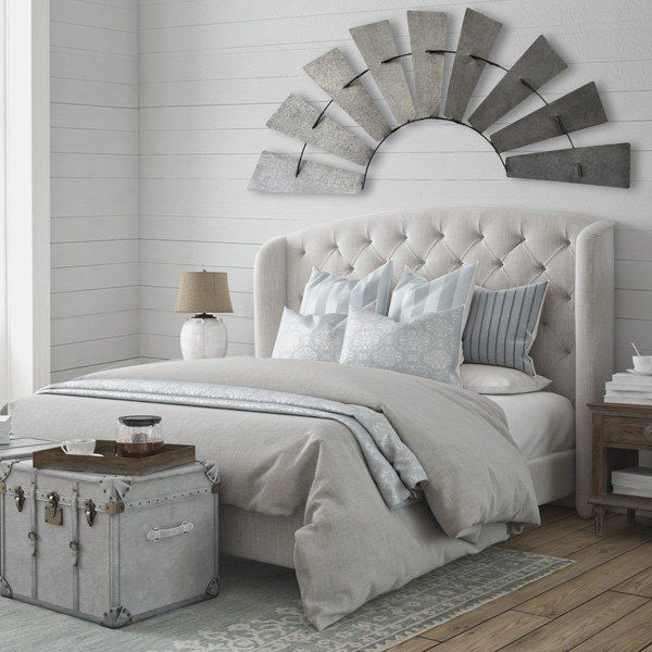Add Industrial Farmhouse Style With This Metal Half Windmill Wall