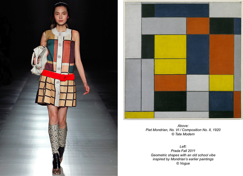 Different Types Of Lines In Fashion Designing : Mondrian s influence on fashion goes far beyond his own art