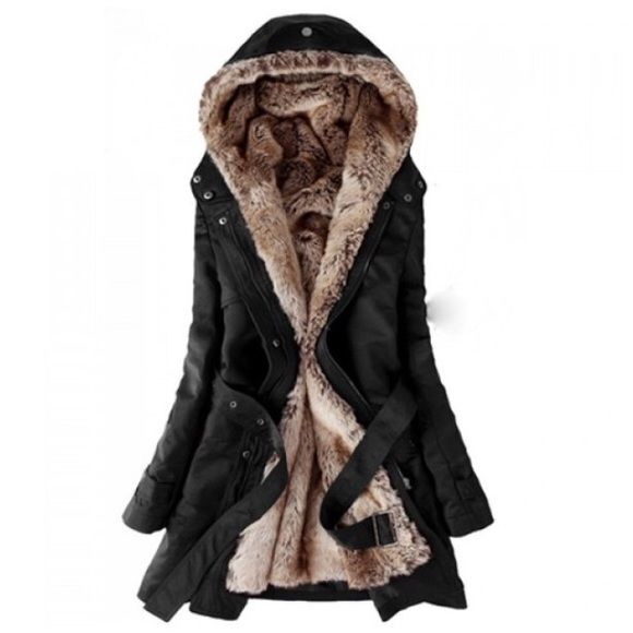 NEW!!! Black Fur-lined Parka JUST ARRIVED!!! Black faux fur lined parka. Super warm! Inner lining zips in/out. Hood buttons around faux fur lining. Tie waist to cinch. Water resistant outer material. Perfect for the winter! Sizes Large, and X-Large. Check size chart as they're more like medium, large. This listing is for the X-LARGE  Jackets & Coats