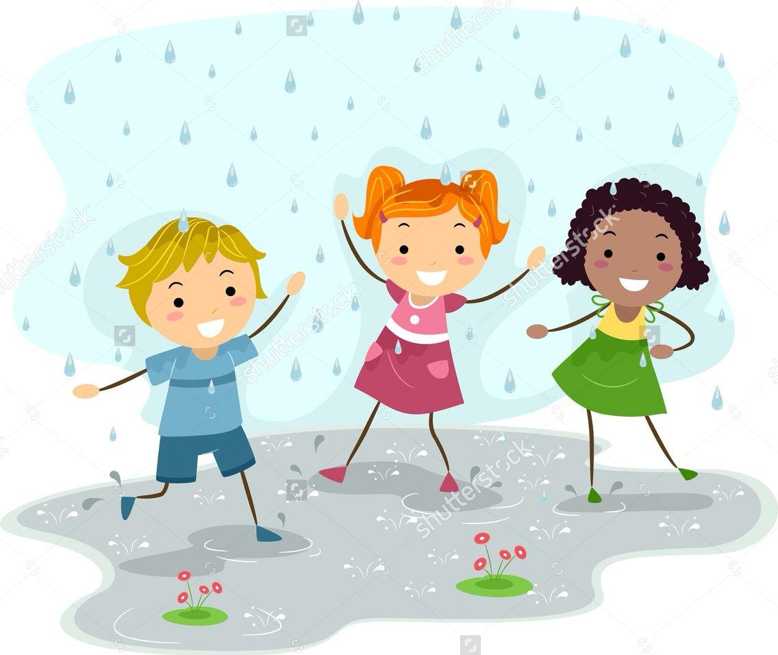 children playing in the rain weather pinterest children play