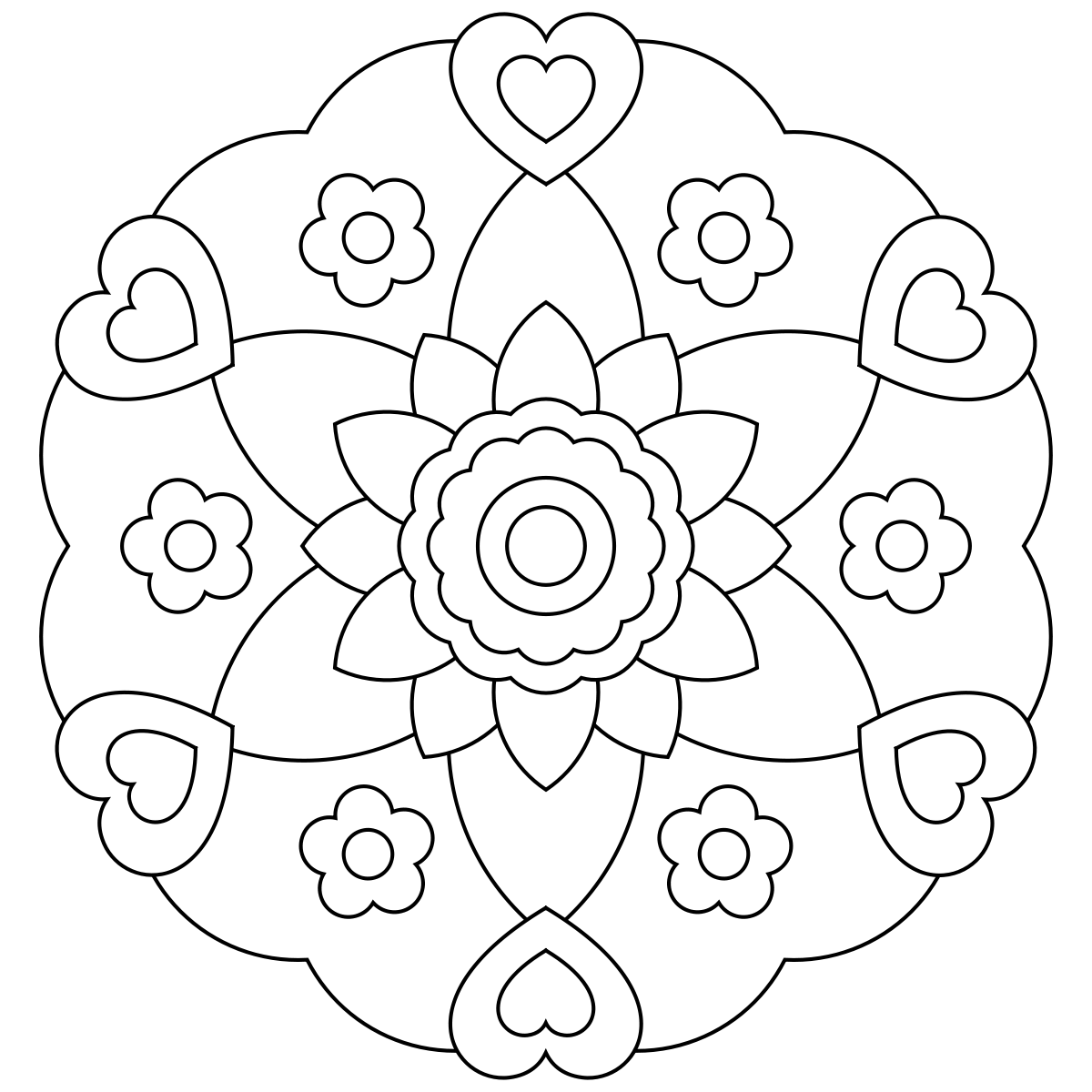 Free printable mandala coloring pages Fun Mandala