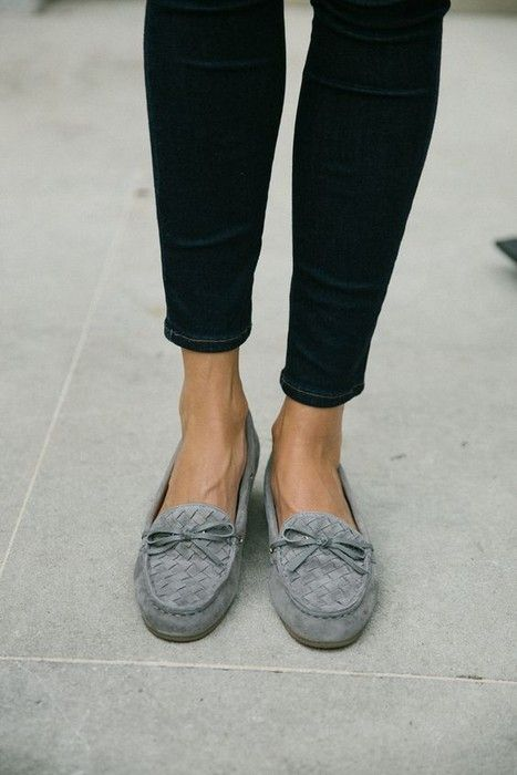 Loafers outfit, Grey loafers