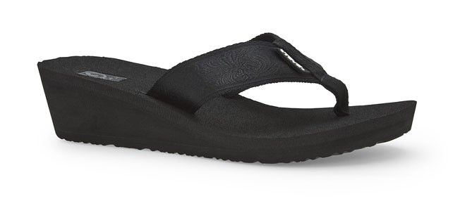 Teva Womens Mush Mandalyn Wedge 2 Sandals Motif Black Out -2910