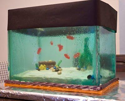 crazy aquarium cake