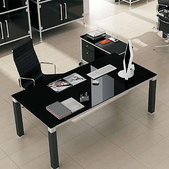 Escritorio pallet cristal ventas de muebles economicos for Muebles de oficina economicos