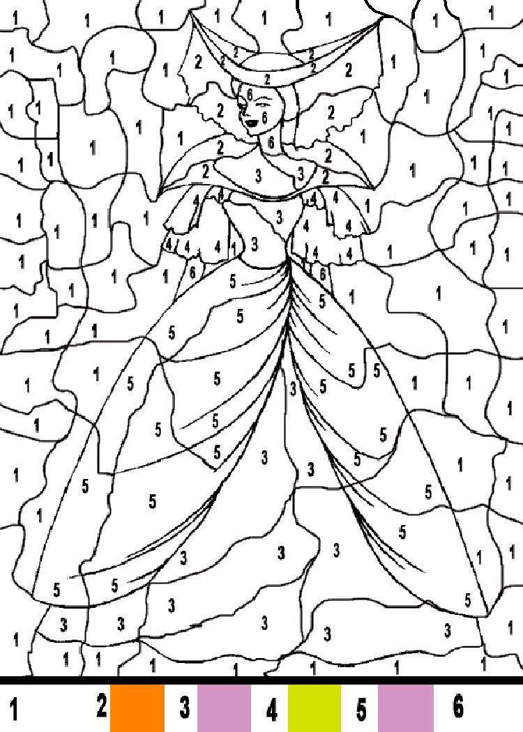 princess coloring pages by number   Princess coloring ...