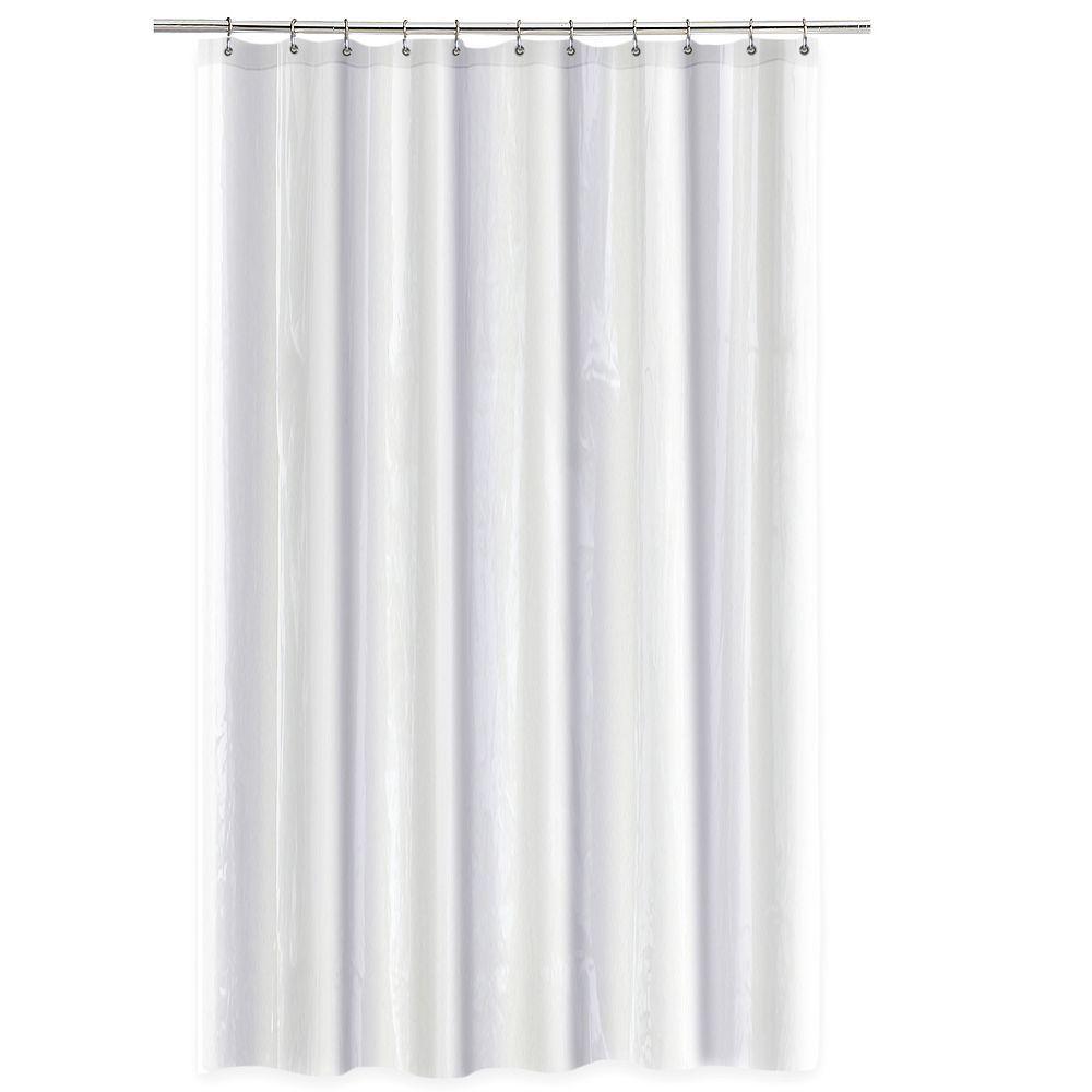 Splash Home Anti Mildew Shower Curtain Liner White