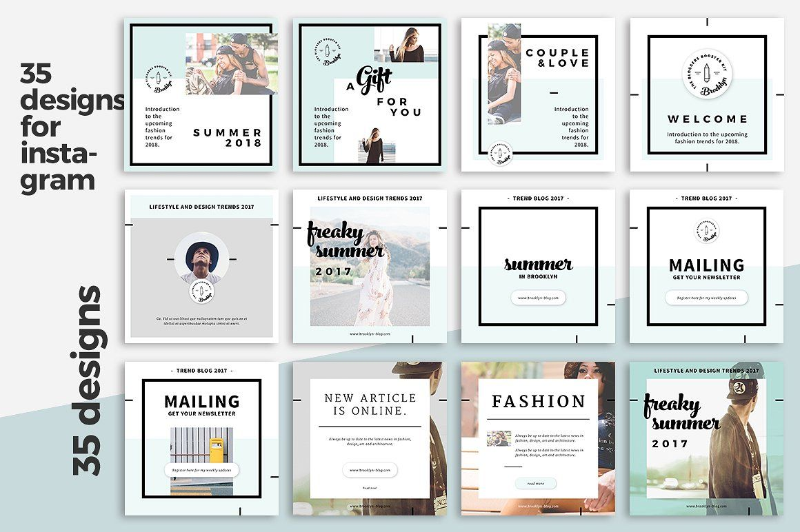 Instagram Templates | Template and Social media template