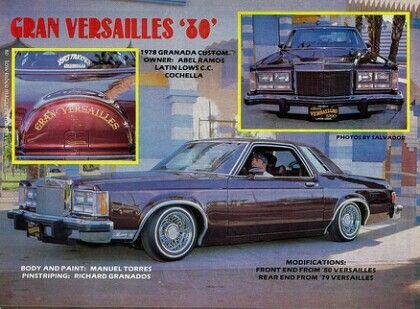 Gran Versailles 1978 Ford Granada Ford Granada Granada Lowriders
