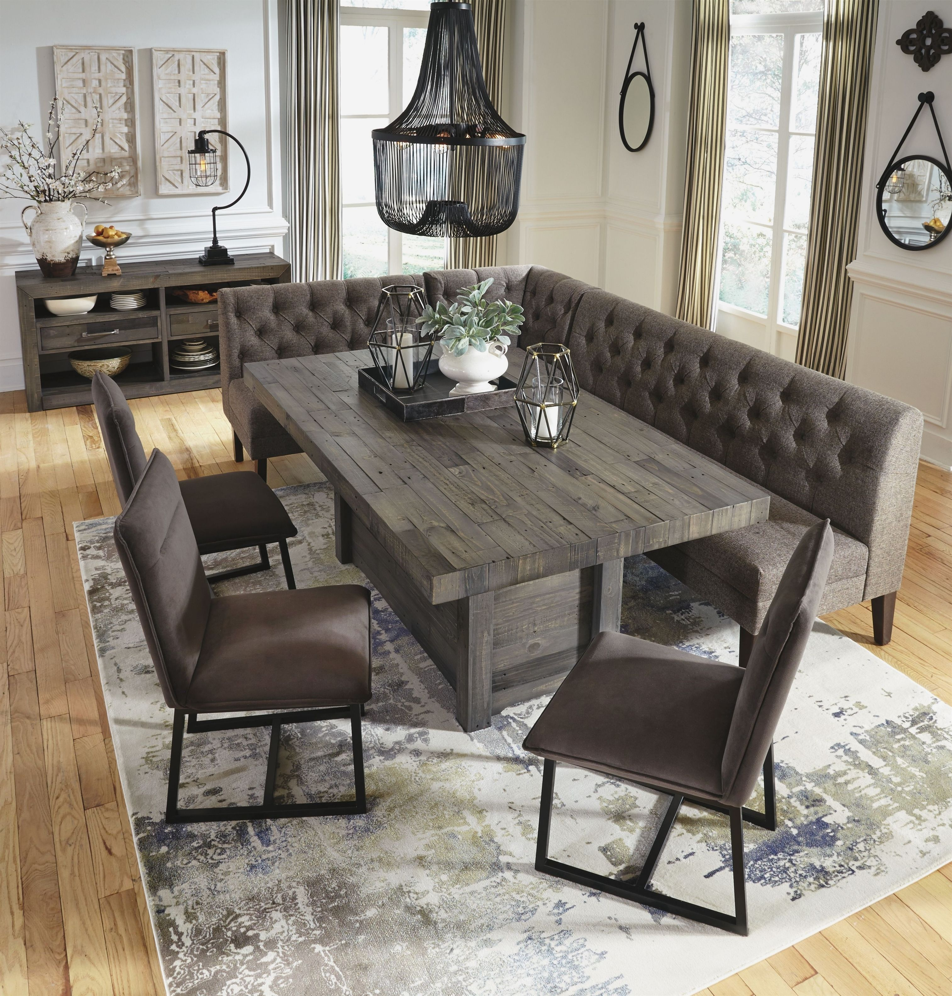 Mayflyn Dining Room Server Charcoal Livingroomsets Dining Room