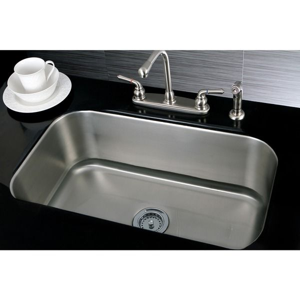 Single Bowl 30-inch Stainless Steel Undermount Kitchen Sink - Overstock™ Shopping - Great Deals on Kitchen Sinks