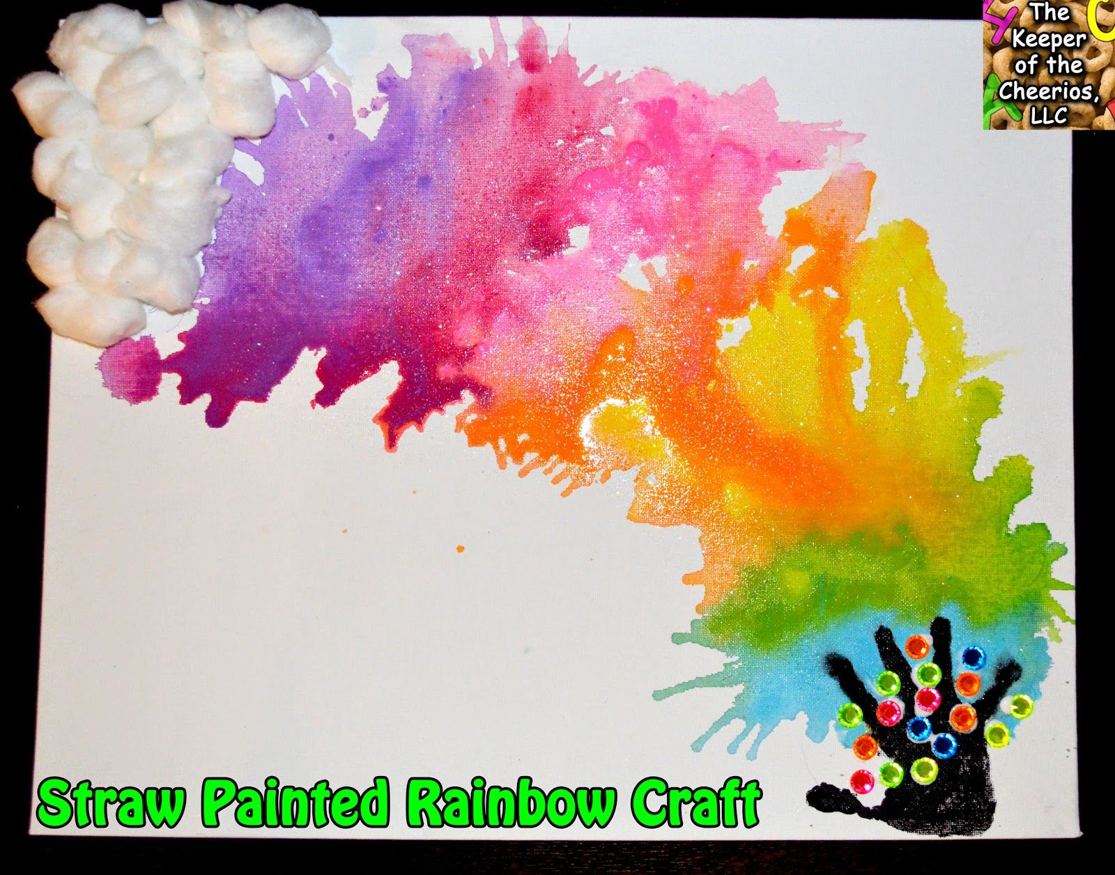 Straw Painted Rainbow Craft Rainbow Crafts Straw Art For Kids